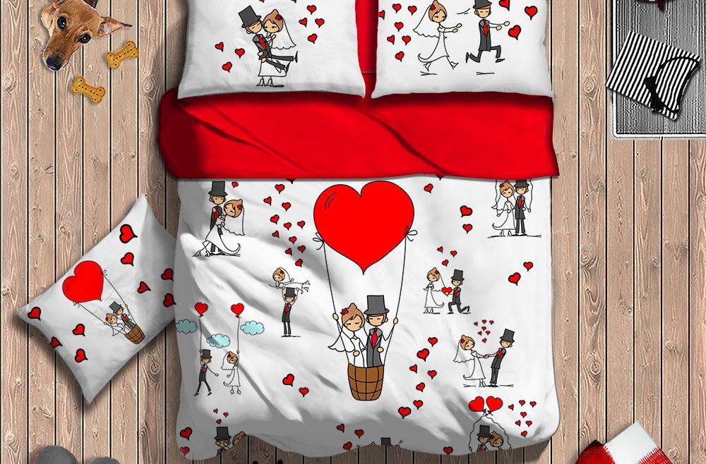 Lenzuola Matrimoniali Lui E Lei.Matrimoniali Digitali I Love Sleeping